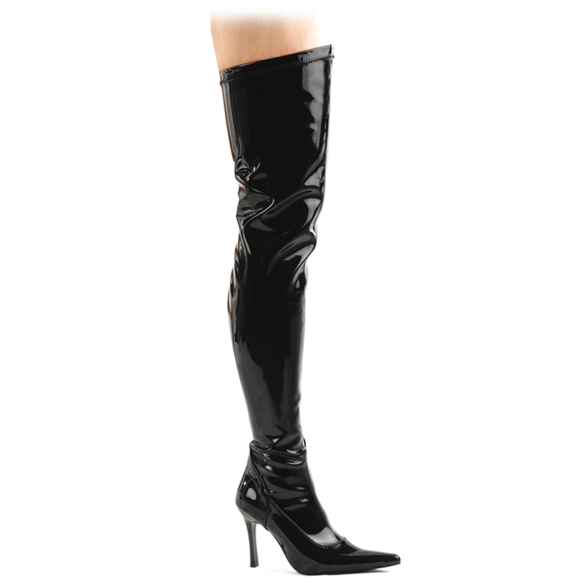 "FUNTASMA Blk Str Pat Thigh Boot, 3 3/4"" at Sears.com"