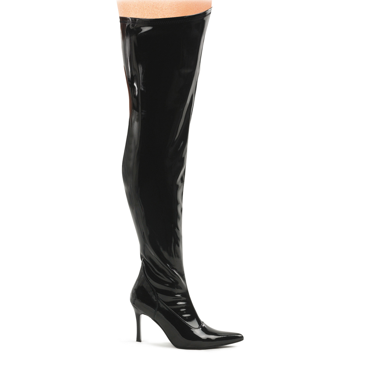 "FUNTASMA Blk Str Pat Wide Width Thigh Boot, 3 3/4"" at Sears.com"