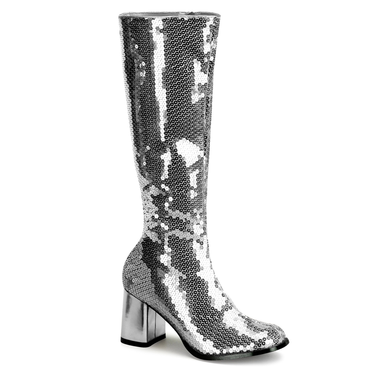 "BORDELLO 3"" Block Heel Sequins Knee Boot at Sears.com"