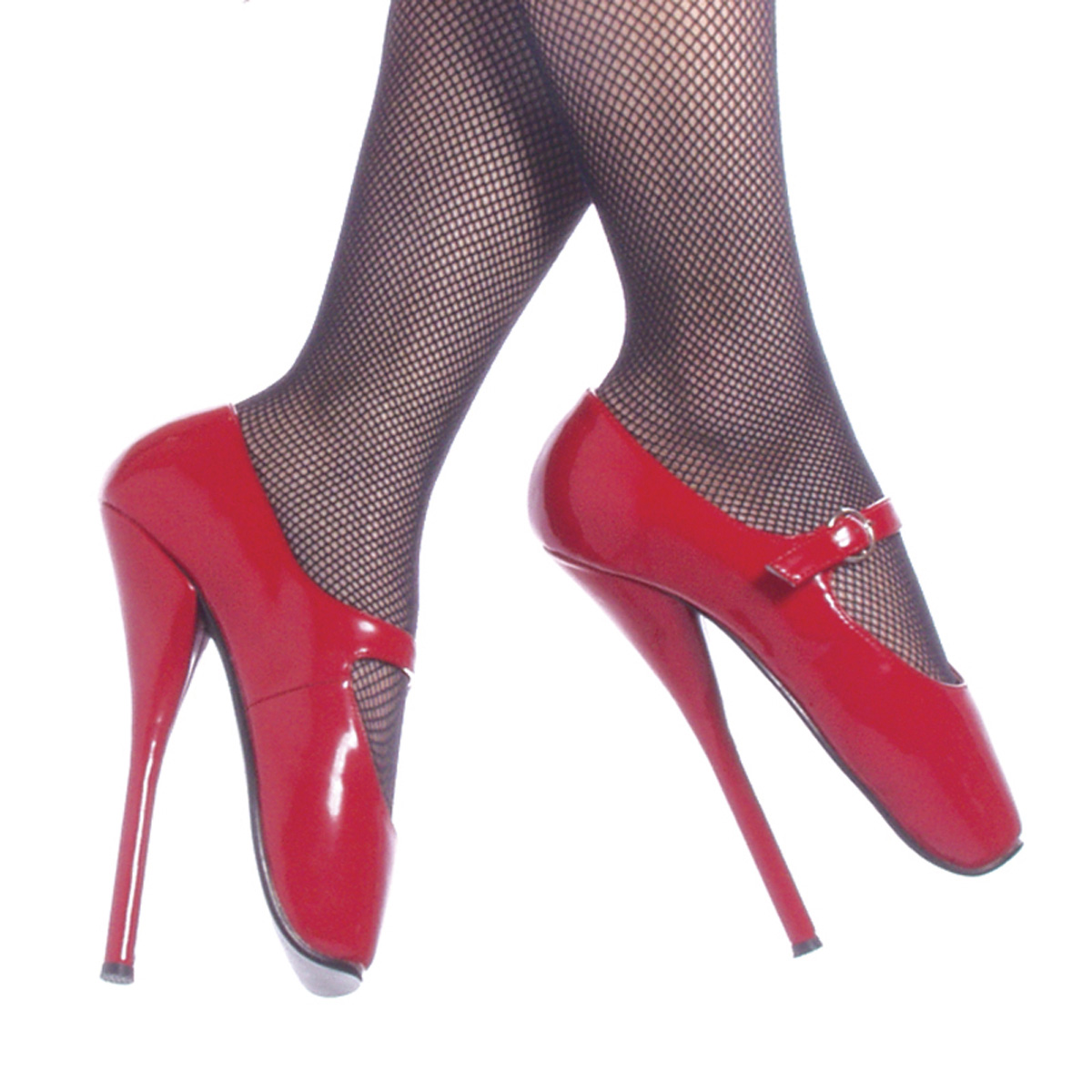 "DEVIOUS BALLET-08 7 1/2"" Heel Shoes/Red Pat"