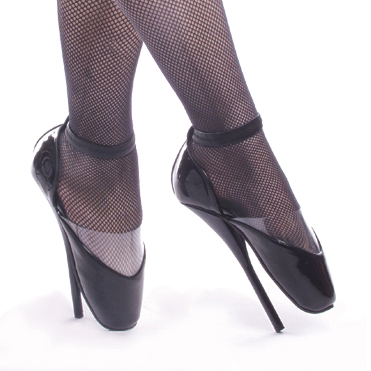 "DEVIOUS BALLET-12 7"" Heel Shoes/Blk Pat"