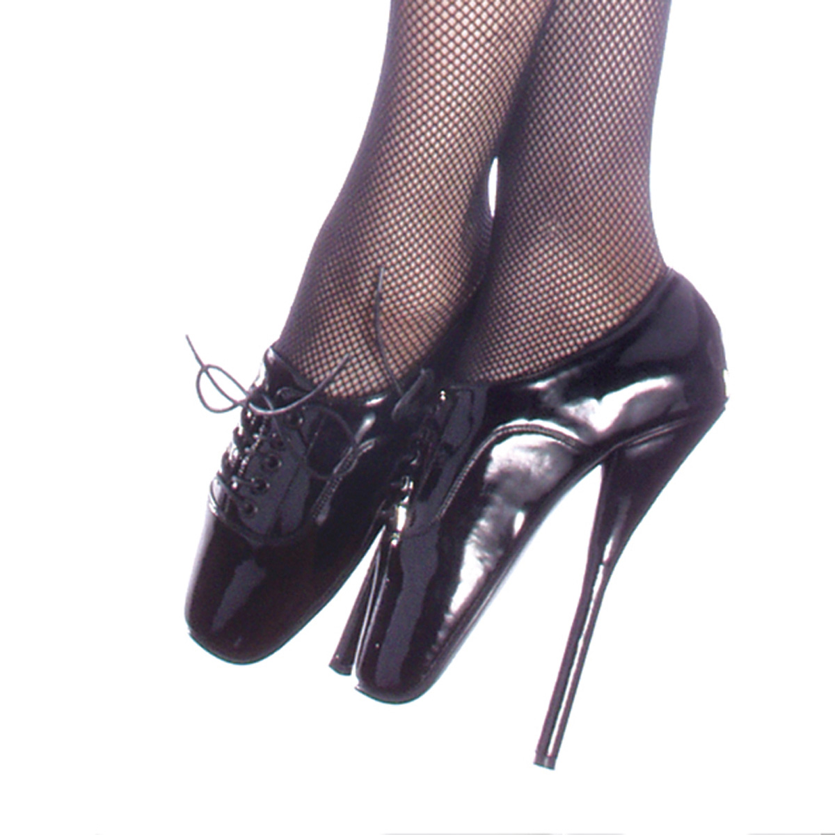 "DEVIOUS BALLET-18 7"" Heel Shoes/Blk Pat"