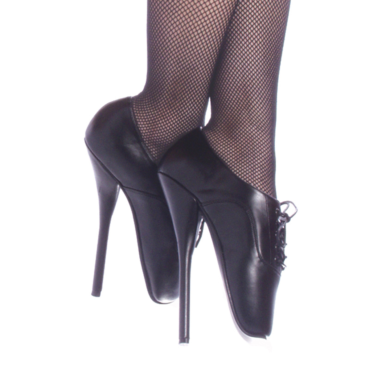 "DEVIOUS BALLET-18 7"" Heel Shoes/Blk Le"
