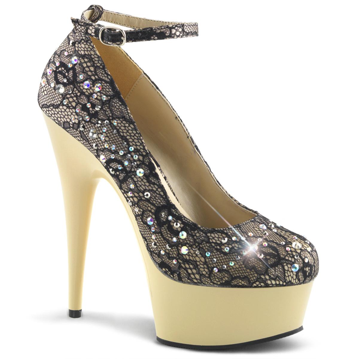 PLEASER-Womens-1-3-4-Platform-Ankle-Strap-Rhinestone-Detail-Pump-DELIGHT-686LC