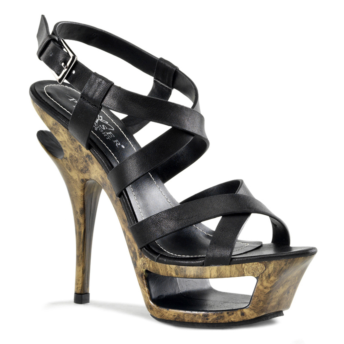 "PLEASER DAY-NIGHT 5 1/2"" Heel, 1 3/4"" Cut-Out PF Criss Cross Sandal at Sears.com"