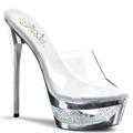 Clubwear Rhinestone Heels Eclipse Silver