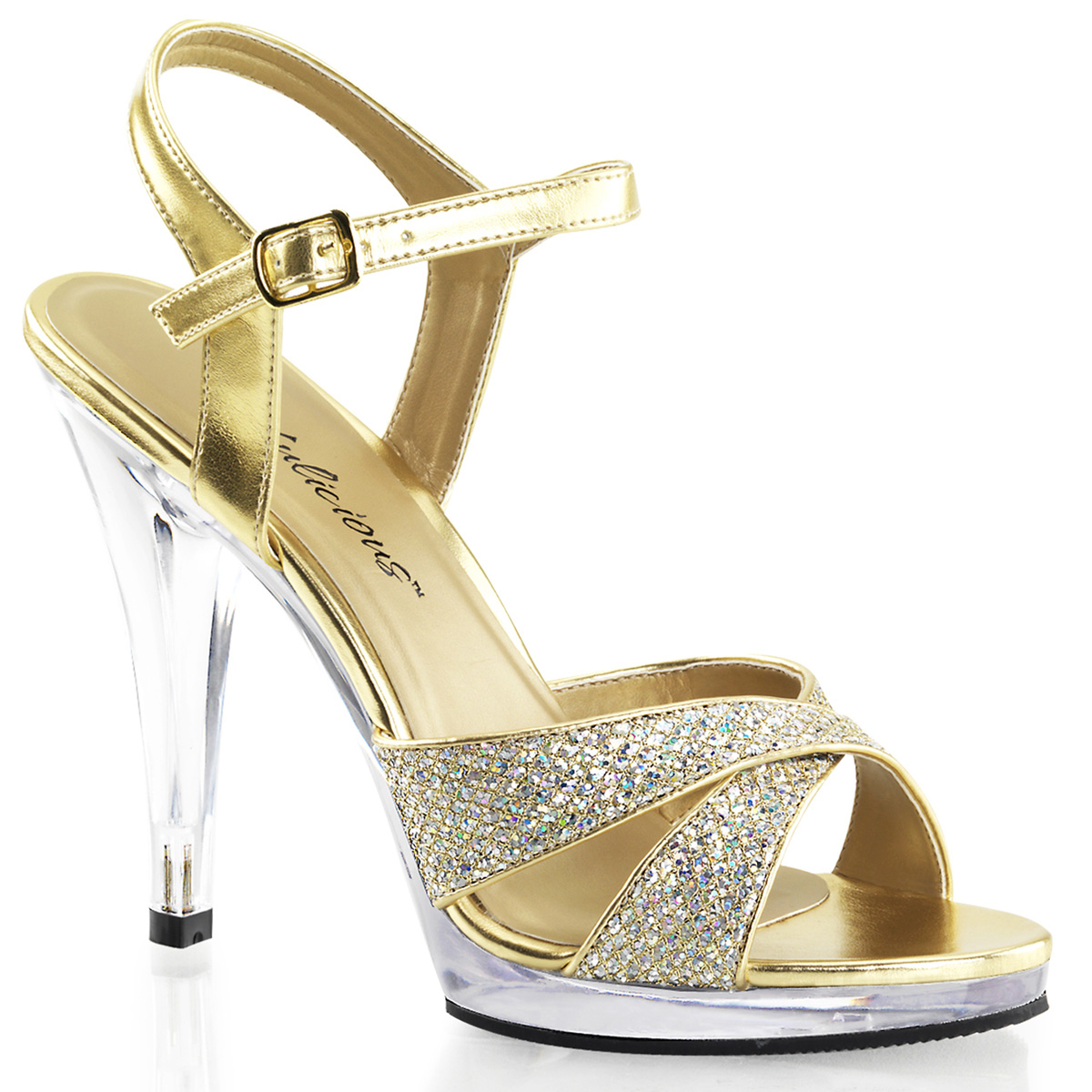 """FABULICIOUS FLA419G Women's New Fashion Hot Ankle Strap Sandal 4 1/2"""" Clear Heel at Sears.com"""