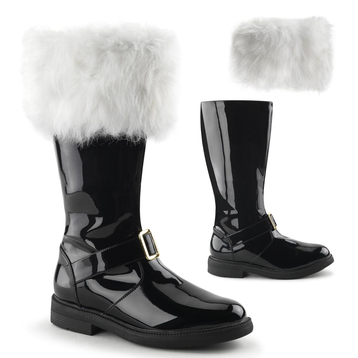 """FUNTASMA SANTA-102 Men's 1"""" Flat Heel Men's Knee High Gold Buckle Santa Boot at Sears.com"""
