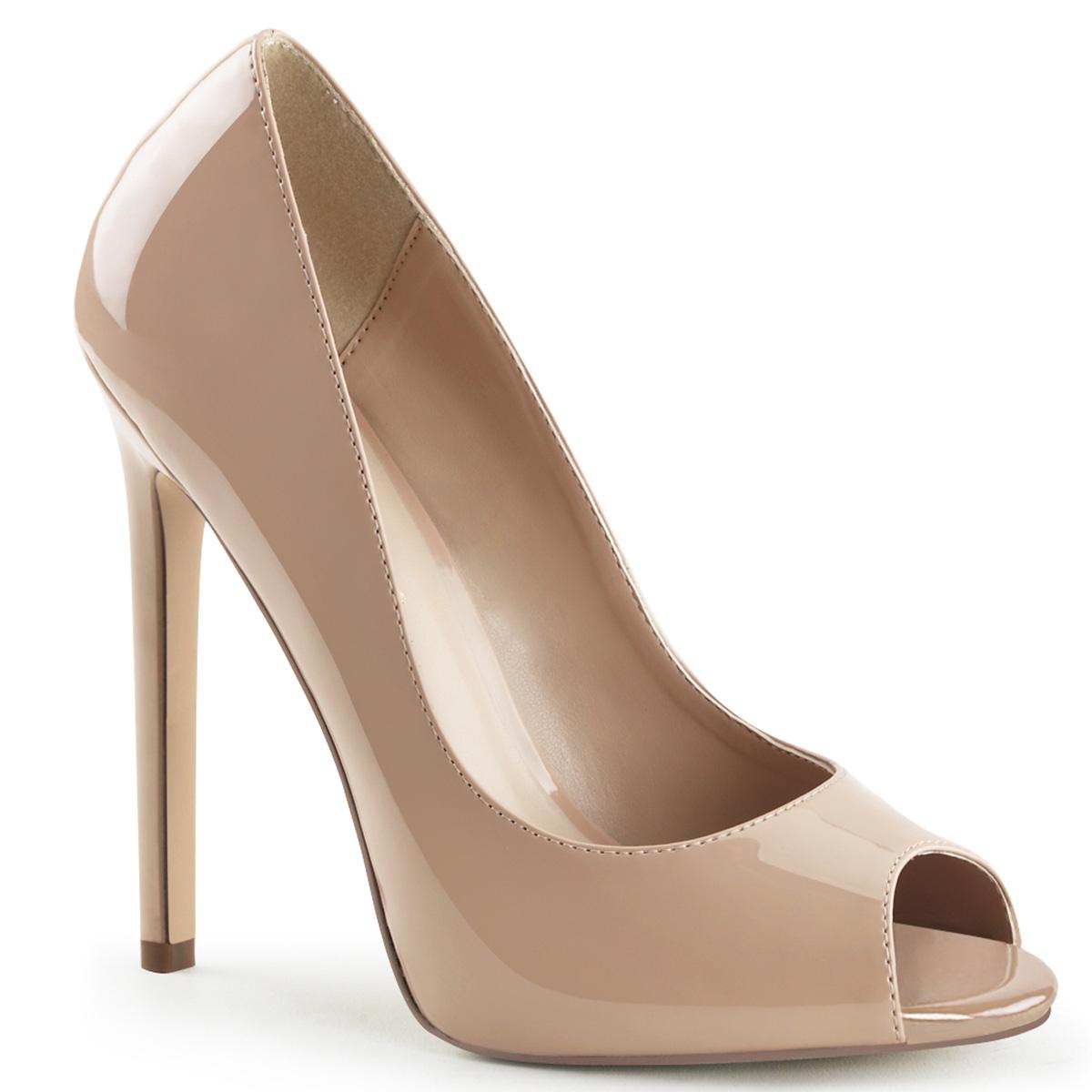 PLEASER-Womens-5-Heel-1-4-Platform-Peep-Toe-Slip-On-Stiletto-Pumps-SEXY-42