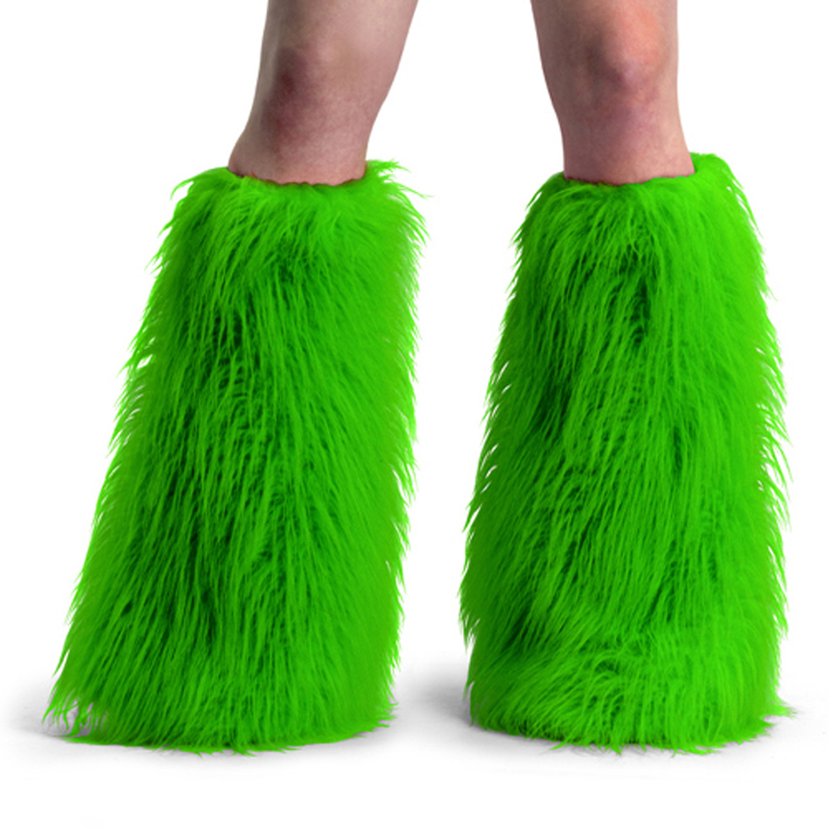 ACCESSORIES YETI-01 Neon Green Faux Fur Boot Sleeve/Neon Green Faux Fur