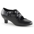DAME-02 Bred klack Gatsby Mary Jane Pumps Retro & vintage Vegan