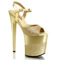FLAMINGO-809-2G Fetisch Glitter & paljetter Sandalett