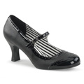 JENNA-06 Bred klack Klassisk elegans Mary Jane Pumps Vegan
