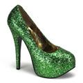 TEEZE-06G Burlesk Glitter & paljetter Jul & högtider Pumps Vegan